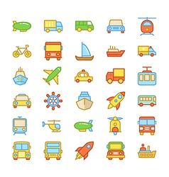 Transport Colored Icons 4 vector image vector image