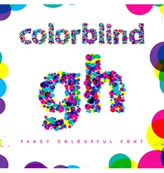 Set of colorblind style font in fresh trendy vector