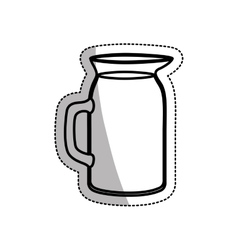 Isolated glass pitcher design vector