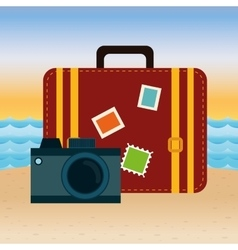 Summer vacation travel vector