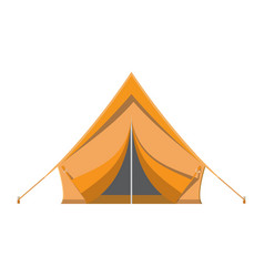 camping tent tourism travel vacation sport vector image