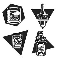 Color vintage bar emblems vector