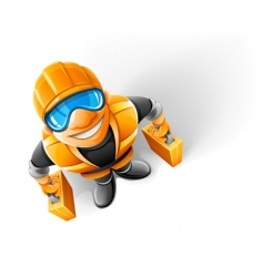 Worker in helmet vector