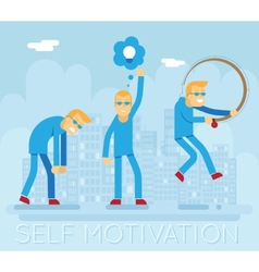 Hipster Characters Self Motivation Concept Urban vector image