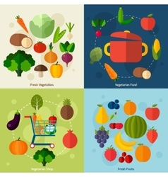 Vegetarian food background vector