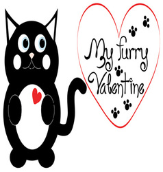 My furry valentine vector