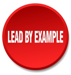 Lead by example red round flat isolated push vector