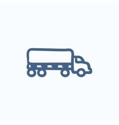 Delivery truck sketch icon vector