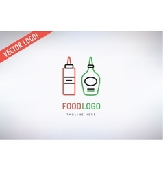 BBQ and Food Logo Outdoor Kitchen or Meat vector image
