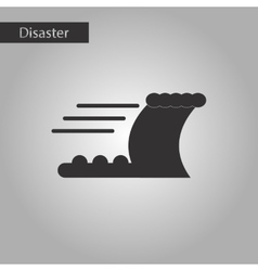 Black and white style icon disaster tsunami vector