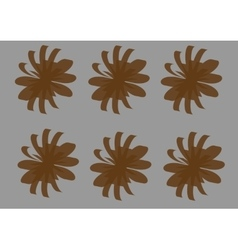 brown flowers-01 vector image vector image