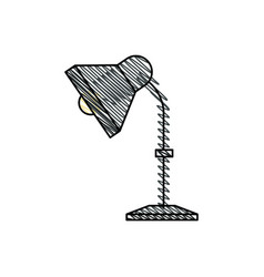 desk lamp equipment office vector image vector image