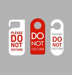 door labels do not disturb vector image