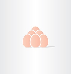 Eggs icon logo symbol vector