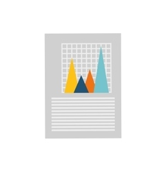Financial chart report vector image
