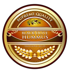 Hummus black olive vector