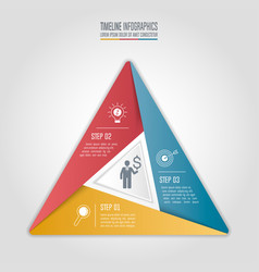 Infographic business concept with 3 options vector