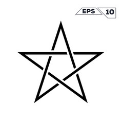 line art minimalist symbol of the star vector image
