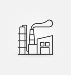 Manufacturing plant line icon vector