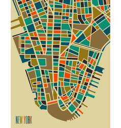 New york colorful city plan vector