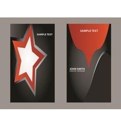 orange business card vector image vector image