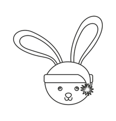 Rabbit winter clothes icon vector