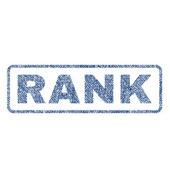 Rank textile stamp vector
