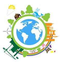save green02 vector image