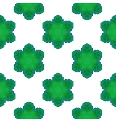 Seamless Green Snowflake Pattern vector image vector image