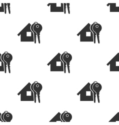 Seamless home and keys background vector image vector image