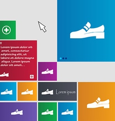 Shoe icon sign buttons modern interface website vector
