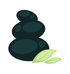 Smooth stones placed one on another and small vector