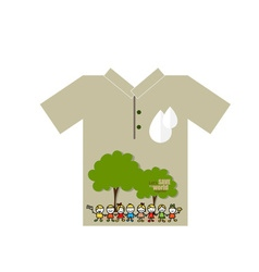 T- shirt design - eco friendly - creative ecology vector