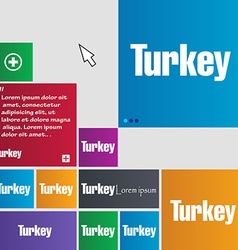 Turkey icon sign buttons modern interface website vector