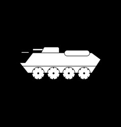 White icon on black background military personal vector