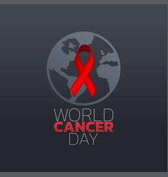 world cancer day icon design logo vector image vector image