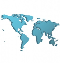 world map in 3D vector image vector image