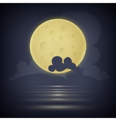 Yellow moon vector
