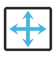 Expand arrows framed icon vector
