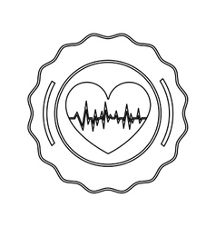 Isolated heart design vector