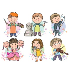 Professions kids set vector