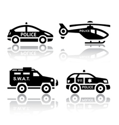 Set of transport icons - police part 2 vector