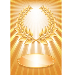 Laurel award gold vector