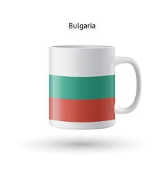 Bulgaria flag souvenir mug on white background vector