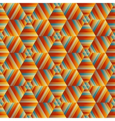 Ornamental hexagonal orange pattern vector
