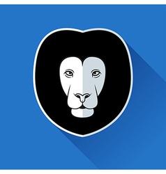 Flat lion logotype vector image