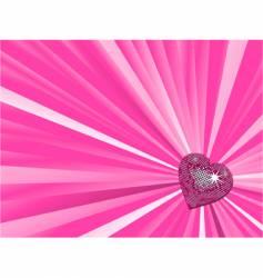 Valentine's heart background vector image
