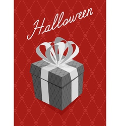 Gift for halloween background bones and skull vector