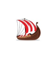 Drakkar sign viking transport ship vector