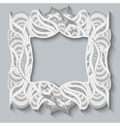 Abstract hand drawn frame ornament pattern in vector